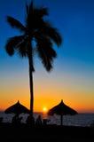 заход солнца лета тропический Стоковое Изображение RF