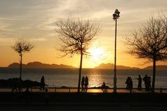 заход солнца лета Стоковые Фотографии RF
