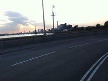 Заход солнца Лондона стоковая фотография rf