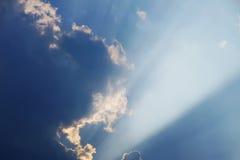заход солнца луча Стоковые Фотографии RF
