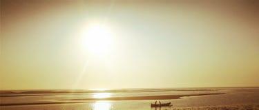 Заход солнца Мадагаскара Стоковые Изображения RF