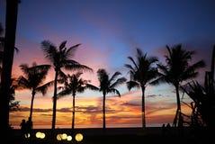 заход солнца Малайзии Стоковое фото RF