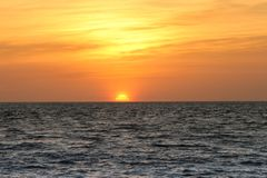 заход солнца Мальдивов Стоковое Изображение RF