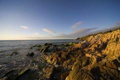 заход солнца маргариты острова стоковое фото rf