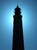 заход солнца маяка Стоковое фото RF