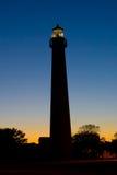 заход солнца маяка Стоковые Фотографии RF