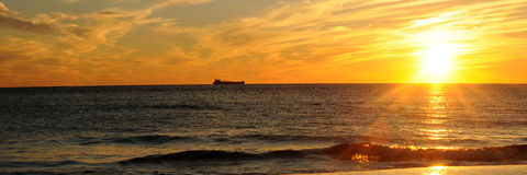 заход солнца Мексики залива Стоковая Фотография RF