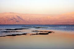 заход солнца мертвого моря Стоковые Изображения RF
