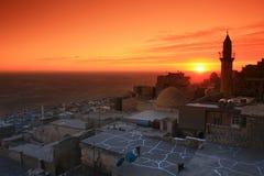 заход солнца Месопотамии mardin Стоковые Фото