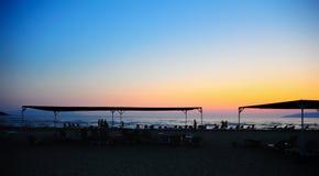 заход солнца места пляжа Стоковое Изображение