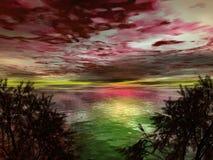 заход солнца места штарковский Стоковая Фотография