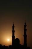 заход солнца мечети Стоковые Изображения RF