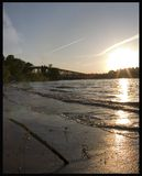заход солнца Миссиссипи стоковое изображение rf