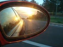 заход солнца Миссиссипи Стоковые Фото
