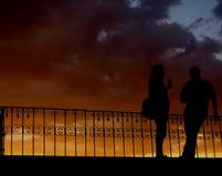 Заход солнца мороженного Стоковая Фотография