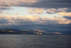 заход солнца морского пехотинца ландшафта Стоковое фото RF