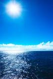 заход солнца моря идиллии Стоковое фото RF