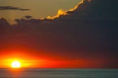 заход солнца моря идиллии Стоковые Фотографии RF