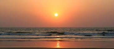 заход солнца моря предпосылки Стоковая Фотография RF