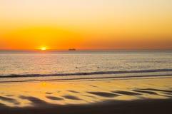заход солнца моря Стоковые Изображения