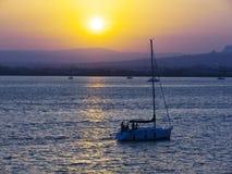 заход солнца моря Стоковая Фотография RF