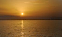 заход солнца моря Стоковые Фотографии RF