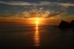 заход солнца моря cortez Стоковая Фотография
