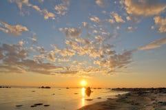 заход солнца моря hdri Стоковое фото RF