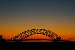 заход солнца моста bourne Стоковая Фотография RF
