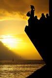 заход солнца навигатора стоковая фотография rf