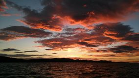 Заход солнца над Адриатическим морем стоковая фотография rf