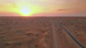 Заход солнца над ближневосточной пустыней акции видеоматериалы