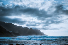 Заход солнца над океаном Тенерифе Стоковые Изображения RF