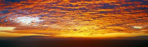 Заход солнца над островами канала Стоковое Фото
