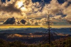 Заход солнца над сьерра-невадой Стоковое Фото