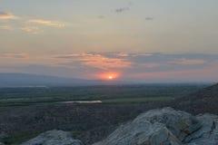 Заход солнца над Mount Ararat, Арменией стоковое фото rf