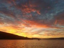 Заход солнца над Saldanha стоковое фото