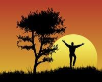 заход солнца настроения праздника иллюстрация штока