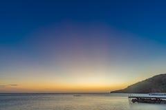 Заход солнца на взглядах Curacao пляжа PotoMari Стоковые Фото