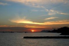 Заход солнца на восточном побережье 2 Стоковое Фото