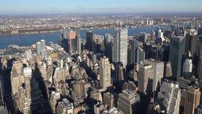 Заход солнца на городском районе Манхэттена в Нью-Йорке, Соединенных Штатах Америки 2019 стоковая фотография rf