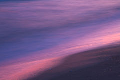 Заход солнца на крупном плане seashore Стоковое Фото