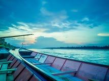 Заход солнца на Меконге, Таиланде стоковое изображение