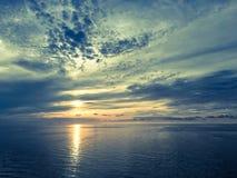 Заход солнца на море Стоковые Изображения RF