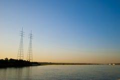 Заход солнца на Нил стоковая фотография rf