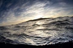 Заход солнца на острове Санта-Барбара Стоковая Фотография