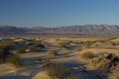 Заход солнца на песчанных дюнах Mesquite плоских Стоковое фото RF