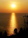 Заход солнца на плаще-накидк Promthep стоковое фото