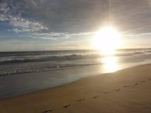 Заход солнца на пляже †«Мексики Акапулько стоковая фотография rf