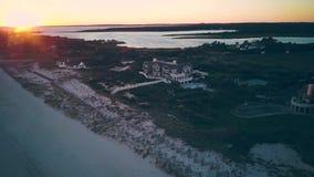 Заход солнца на пляже Hamptons сток-видео